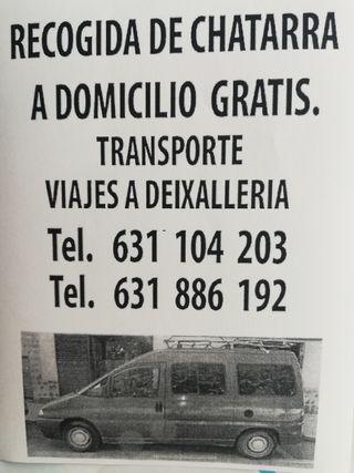 Recogida de chatarra a domicilio barcelona