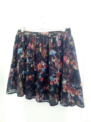 falda de flores okaysi
