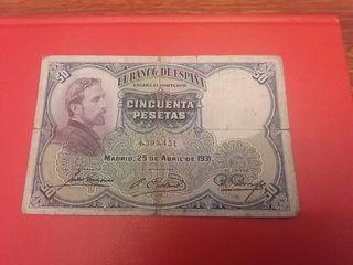 BILLETE DE 50 PTAS AÑO 1931