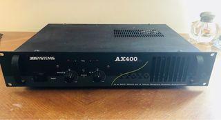Amplificador JBSYSTEMS AX400 y dos altavoces