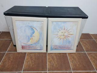 2 CUADROS/ LUNA y SOL