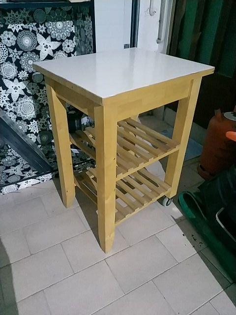 Mesa auxiliar para cocina IKEA de segunda mano por 15 € en Centelles ...