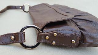 FENDI ORIGINAL bolso de cuero marrón LUJO