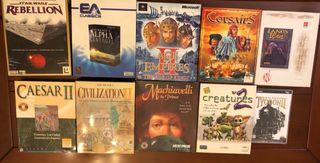 Lote de juegos PC estrategia., usado segunda mano  España