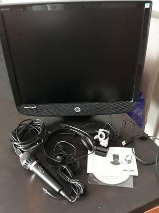 Monitor + micro + Webcam