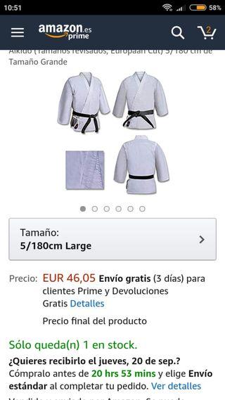 Kimono de competición