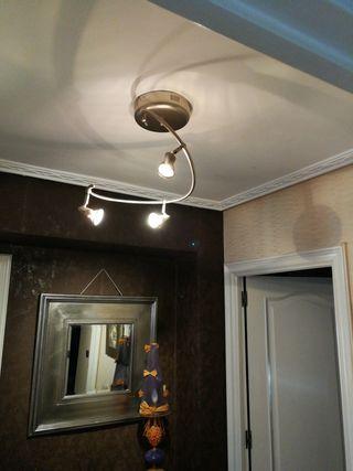 lámpara techo de acero