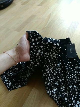 falda pantalon estrellas zara