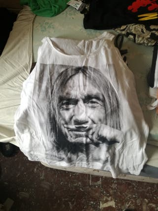 camiseta life is a joke iggy pop de mujer talla L