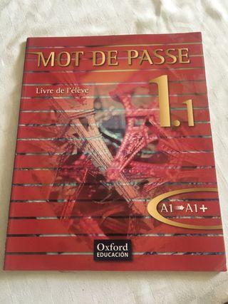 Libro de Francés Mot de Passe 1.1