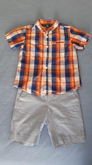 Camisa Benneton y bermudas H&M.
