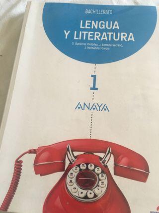 Libro Lengua Castellana y Literatura para 1°Bach