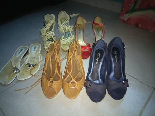 lote 5 pares de zapatos