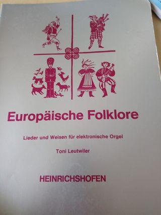 Partituras folklore europeo para órgano