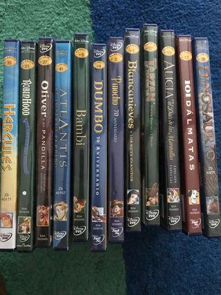 12 dvd colección clásicos Disney.