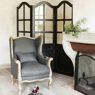 sillón poltrona de lino
