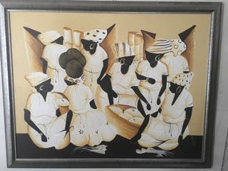 Cuadro mujeres africanas.