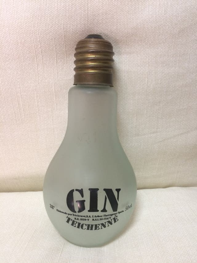Botella cristal decoración