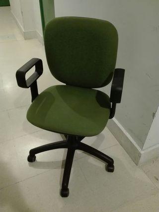 silla escritorio verde