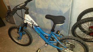 Bicicleta MTB 16 pulgadas.
