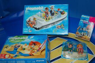 Lote 4 cajas Playmobil.Playa. 4149+4786 +5165+4862