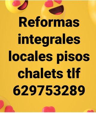 Reformas integrales locales pisos chalets