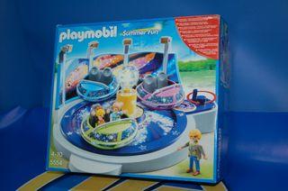 Lote Playmobil. 5554-Atracción de Naves Giratorias