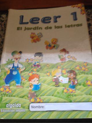 Libro infantil leer 1 El jardín de letras