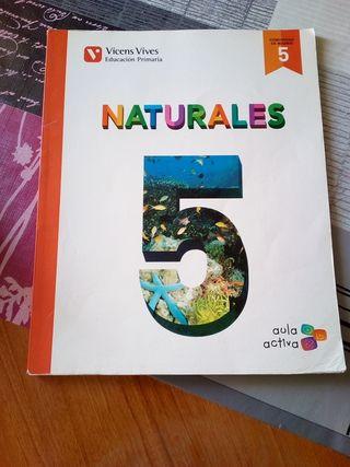 Libro 5 primaria Naturales.