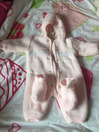 Buzo de lana doble para bebe invierno