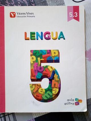 Libro texto Lengua 5 primaria Vicens Vives
