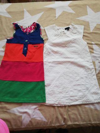 Lote 2 vestidos niña ,talla 4,marca Kenzo y Tommy