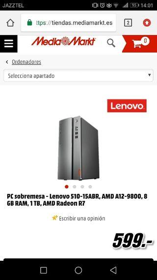 Pc Sobremesa Lenovo