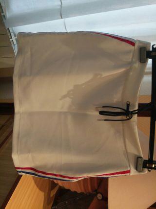 Falda blanca talla L