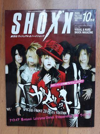 Shoxx revista japonesa j-rock visual kei