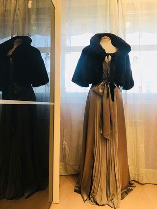 Conjunto de gala: Estola y vestido.