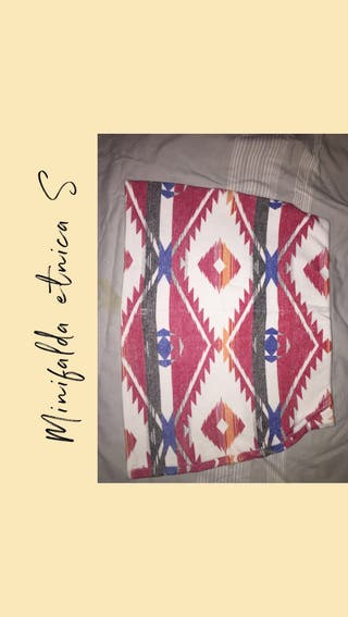 Minifalda etnica zara S