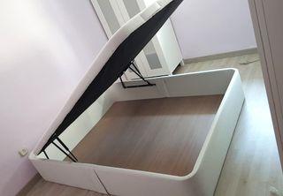 Canapé abatible POLIPIEL tapizada