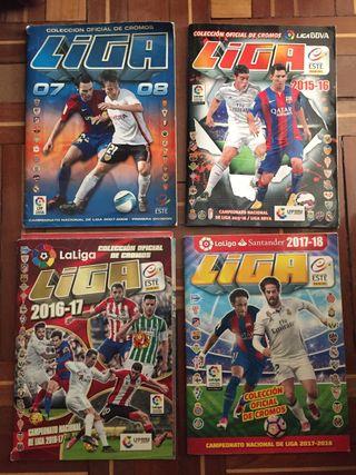 Lote de 4 albums de futbol este