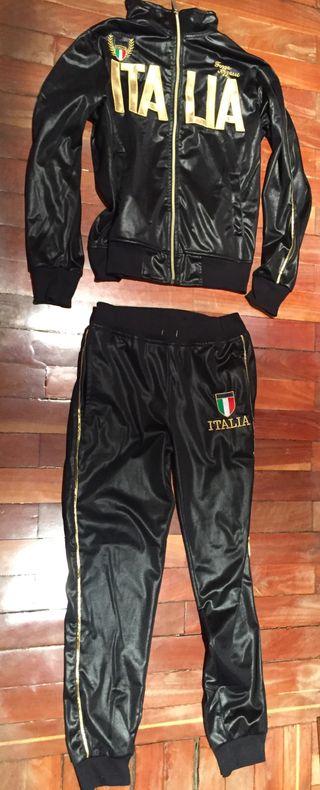 Chandal negro italia unisex talla s