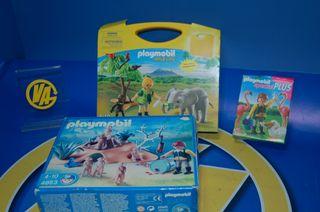 Playmobil-WILD LIFE-ZOO3 cajas - 4758 + 5628 +4853