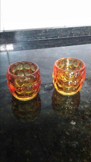 Portavelas cristal