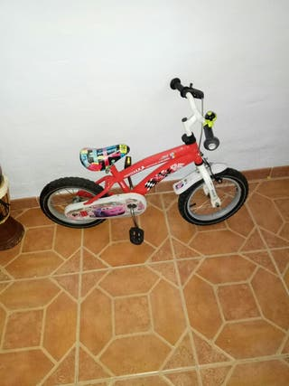 bicicleta lightning mcqueen rueda de 14