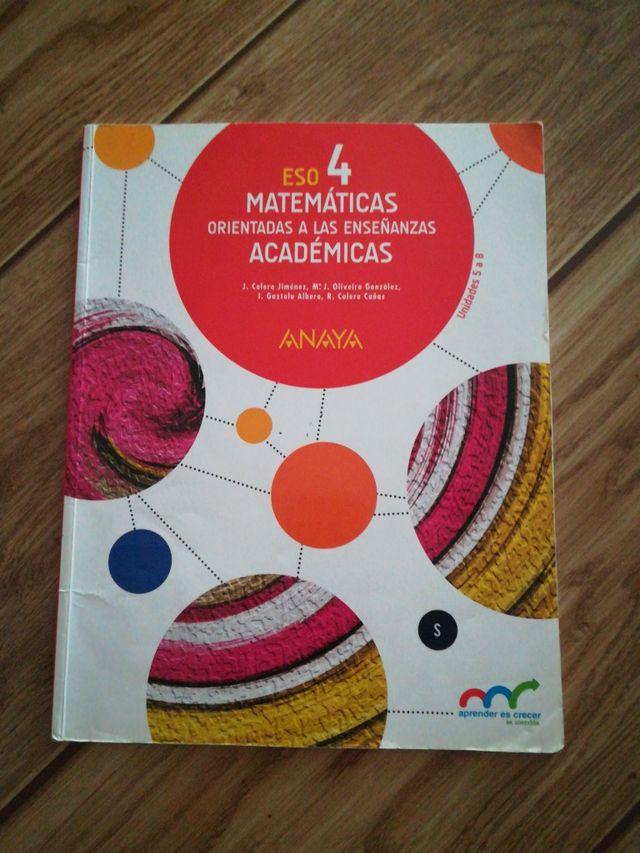 Libro matemáticas cuarto eso de segunda mano por 5 € en Parla en ...