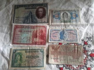lote de billetes antiguos de España