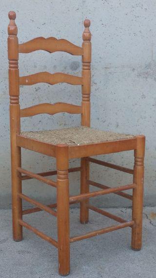 Cadira tornejada seient boga