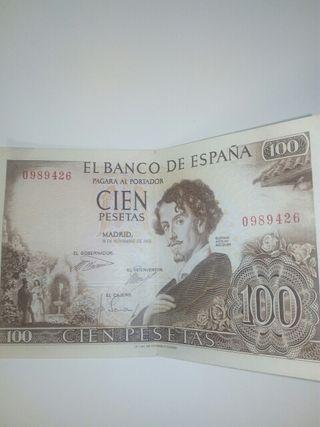 billete cien pesetas