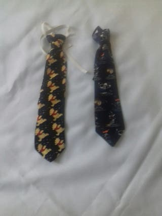 2 corbatas infantiles