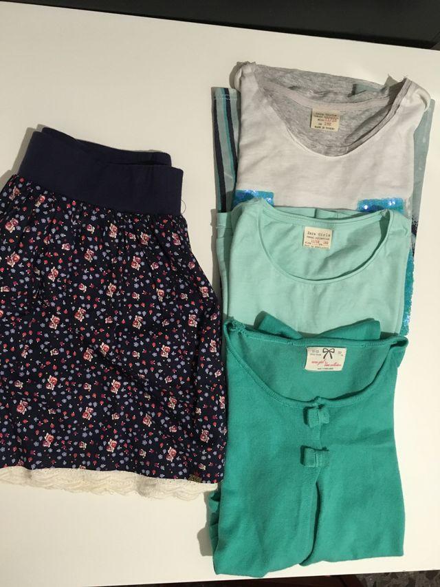 garantía de alta calidad bebé los mejores precios Lote ropa niña 11/12 años zara de segunda mano por 9 € en ...