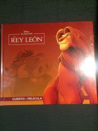 """Pack libro+película """"El Rey león"""""""